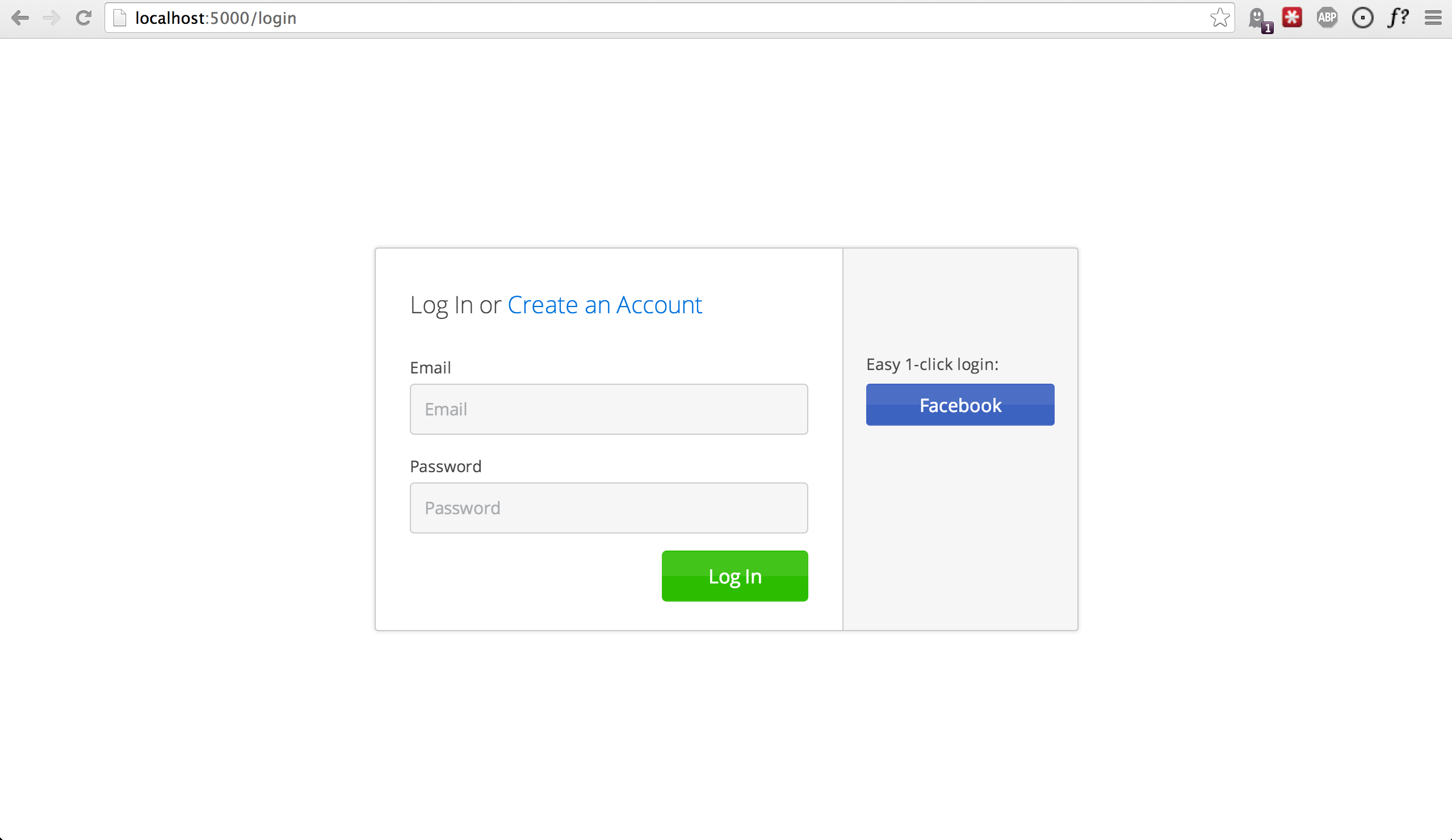 Login Buttons Bootstrap Enabled Login Button